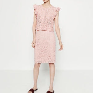 Zara Pink Lace Pencil Skirts (S and XS, both NWT)
